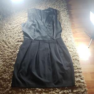 Sleeveless Black Tuxedo Dress 4/45